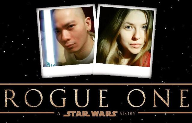 Sherman with Kornelija in Star Wars Rogue One Poster