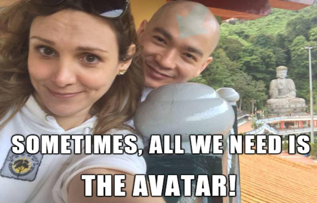 Sherman with Denise in Avatar – The Last Air Bender meme